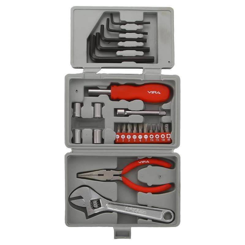 Набор инструментов универсальный Vira 305001  23 предмета  ключи vira 510106 набор 6 шт