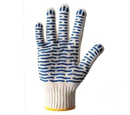 Перчатки ПВХ DOLONI 621  с ПВХ рис. Волна