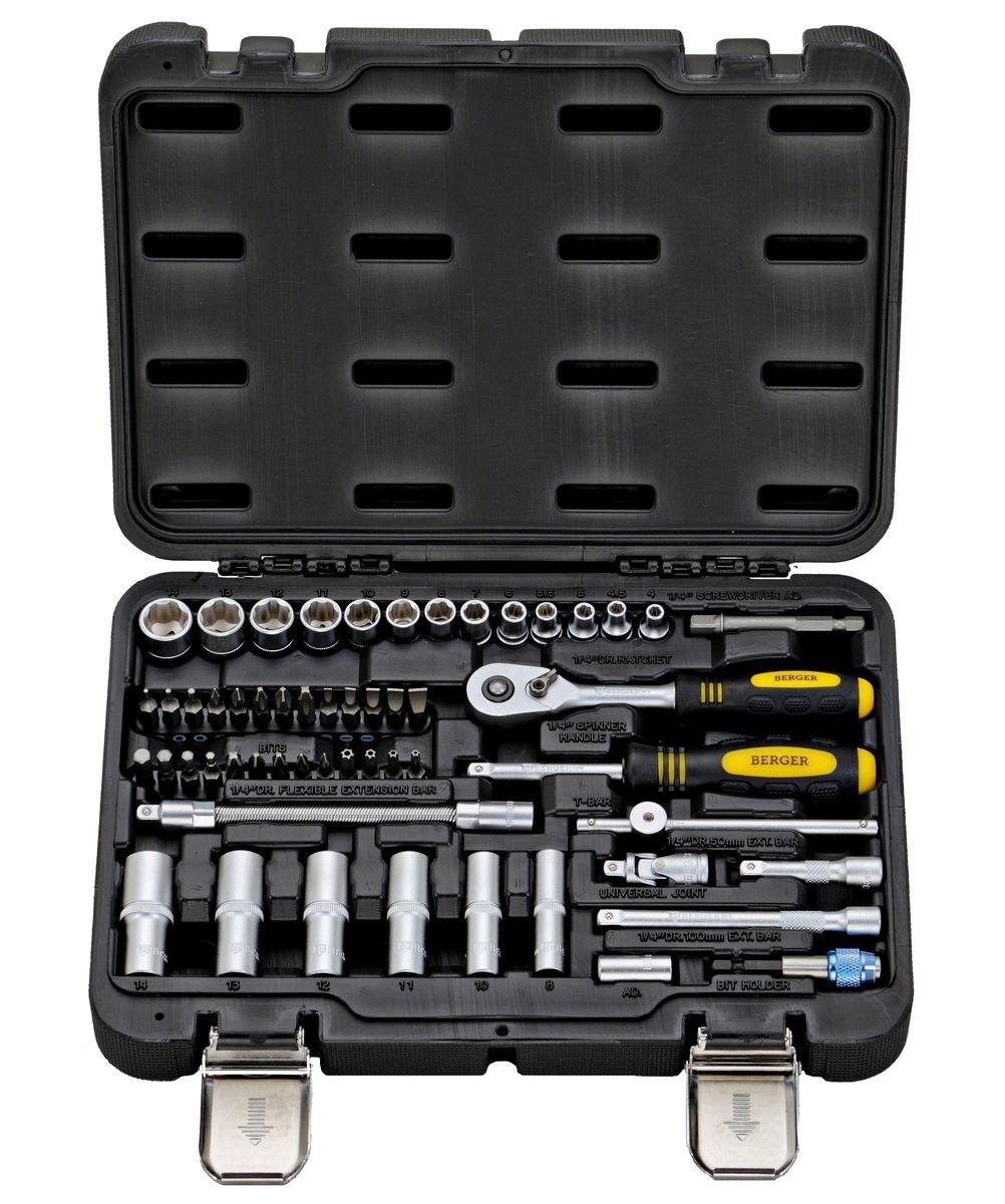 Набор инструментов в чемодане, 55 предметов Berger Bg055-14 berger bg055 14