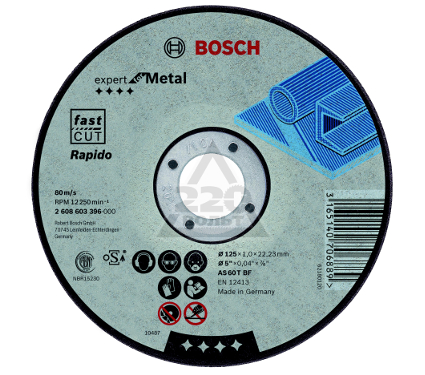 Круг отрезной BOSCH Expert for Metal 230x1,9x22 (2.608.603.400)