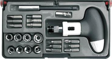 Отвертка реверсивная с набором торцевых головок и бит Fit 56283  набор отверток fit 56041