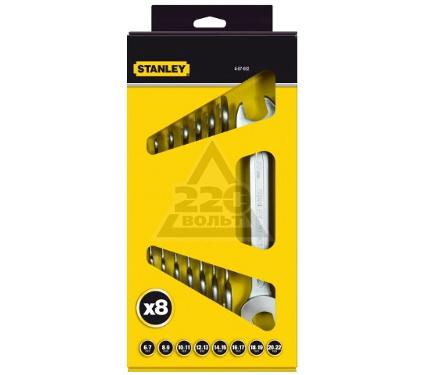 Набор рожковых гаечных ключей в держателе, 8 шт. STANLEY 4-87-052 (6 - 22 мм)