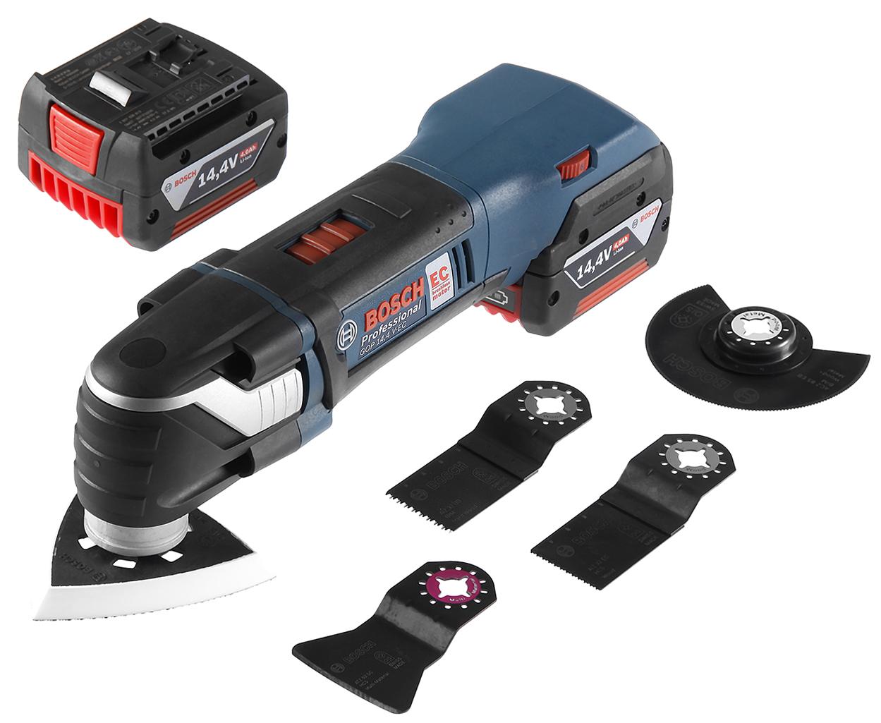 Аккумуляторный реноватор Bosch Gop 14,4 v-ec l-boxx (0.601.8b0.101) от 220 Вольт