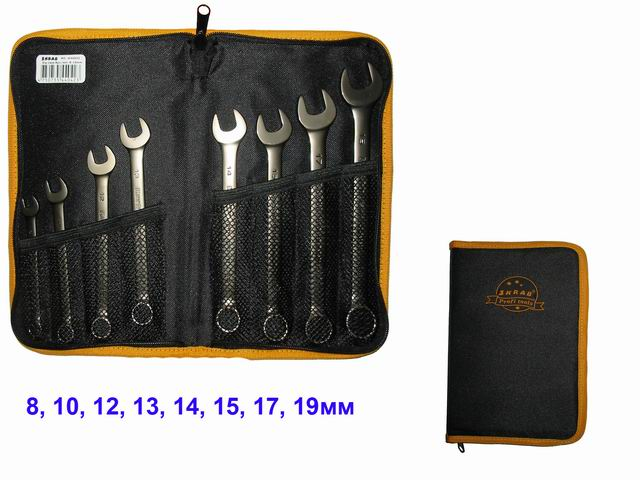 Набор комбинированных гаечных ключей в пенале, 8 шт. Skrab 44042 (8 - 19 мм)  набор трубчатых гаечных ключей alca 16 размеров 8 шт