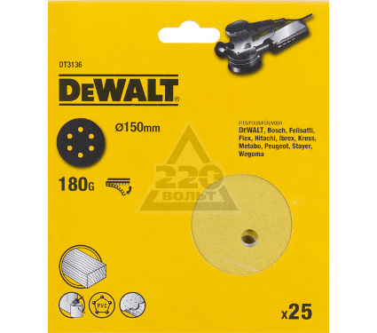 Круг фибровый DEWALT DT3136QZ