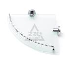 Полка для ванной комнаты угловая стеклянная VERRAN 211-06