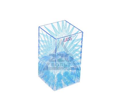 Стакан для зубных щеток WESS Mistilight blue G85-69