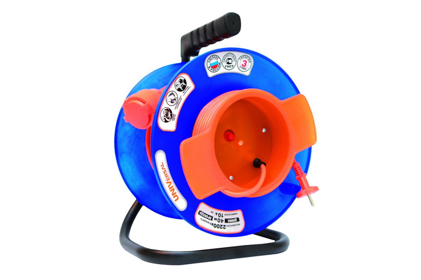 Удлинитель Universal У10-028 термо ПВС 2*0,75 1гнездо 30м силовой удлинитель universal вем 250 термо пвс 2 0 75 20м 9634146