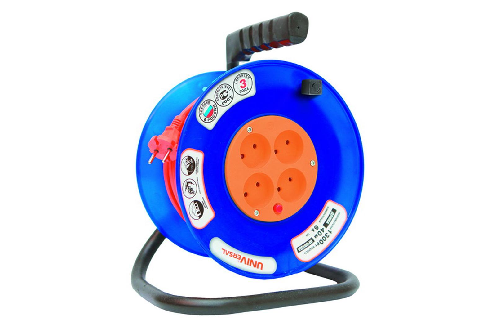 Удлинитель Universal ВЕМ-250 термо ПВС 2*1 4гнезда 40м силовой удлинитель universal вем 250 термо пвс 2 1 30м 9632898