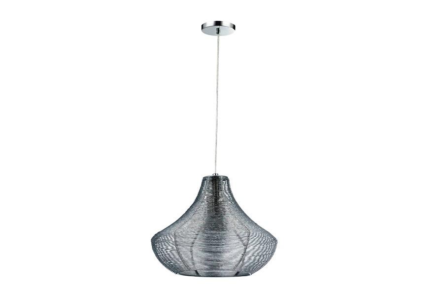Светильник подвесной Lamplandia 2242-1 fobus small silver
