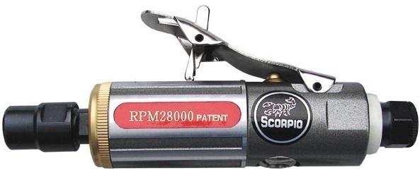 Машинка шлифовальная прямая пневматическая Scorpio Yu-gr1101h от 220 Вольт
