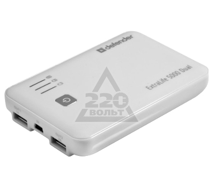 Аккумулятор DEFENDER ExtraLife 5000 Dual
