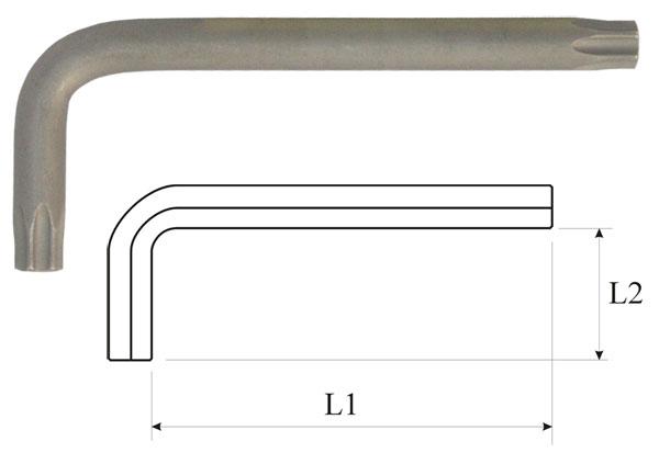Ключ torx t15 угловой Aist 154215tt