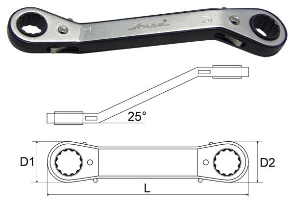 Ключ гаечный накидной 10х11 Aist 2071011