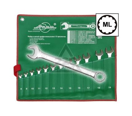 Набор комбинированных гаечных ключей, 12 шт. AIST 0011312A (8 - 19 мм)