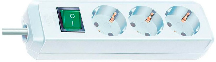 Удлинитель Brennenstuhl Eco-line 1152320400  удлинитель бытовой brennenstuhl eco line 10 гн с заземл 3 м выключатель белый