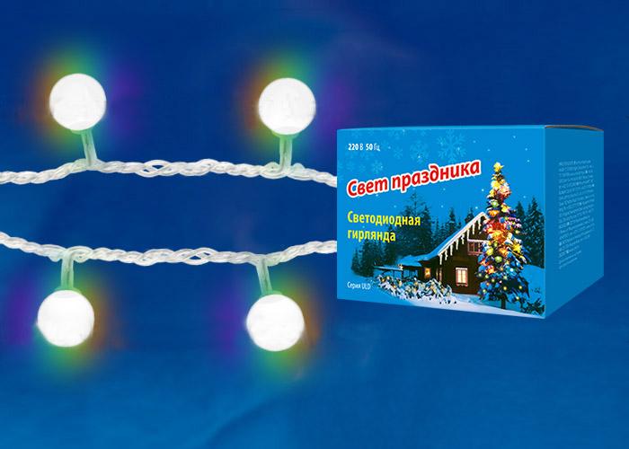 Новогодняя гирлянда-нить Uniel Uld-s0700-050/dta rgb ip20 rainbow