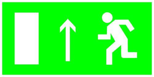 Знак Tdm направление к эвакуационному выходу прямо
