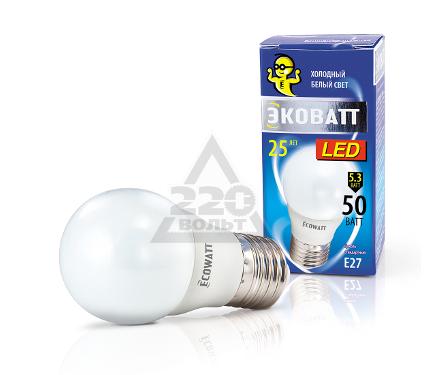 Лампа светодиодная ECOWATT P45 230В 5.3(50)W 4000K E27