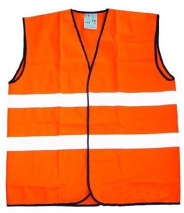 Жилет Newton оранжевый 2 полосы