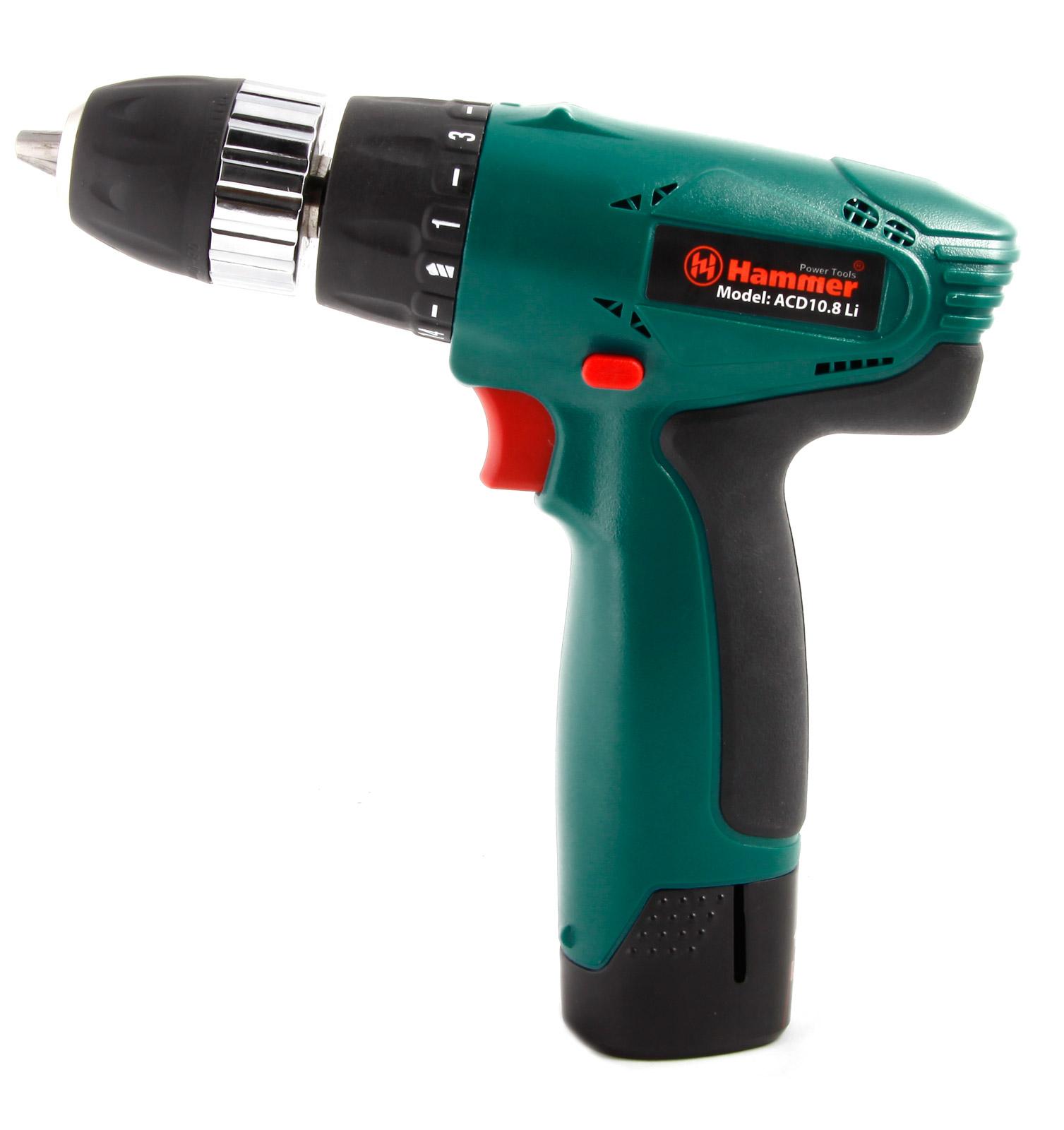 Дрель аккумуляторная Hammer Acd10.8li*2 premium