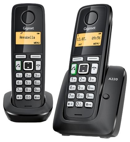 Радиотелефон Gigaset A220 duo от 220 Вольт