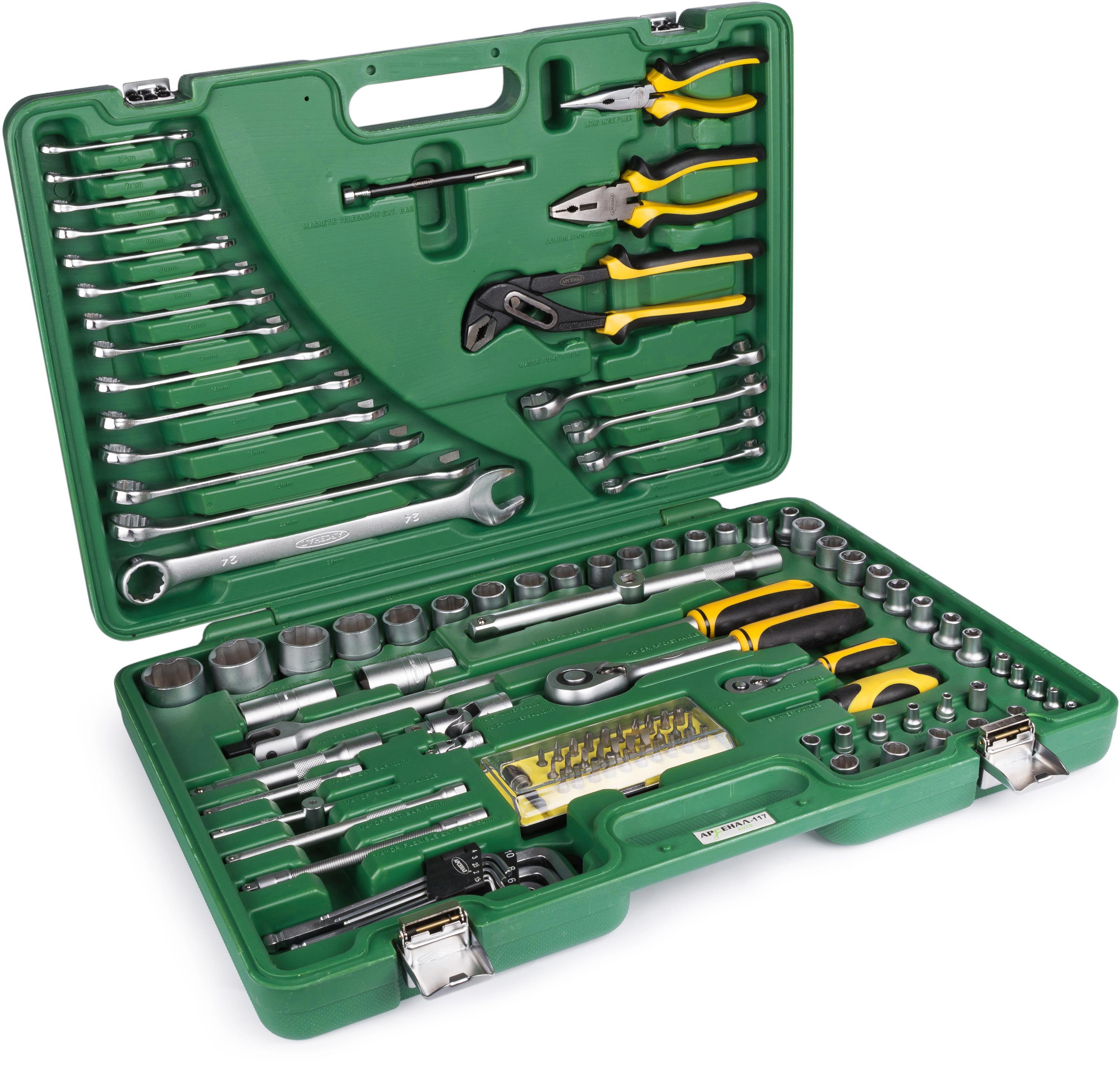 Набор инструментов универсальный АРСЕНАЛ Aa-c1412p117  набор инструмента арсенал aa c1412p94 для ваз