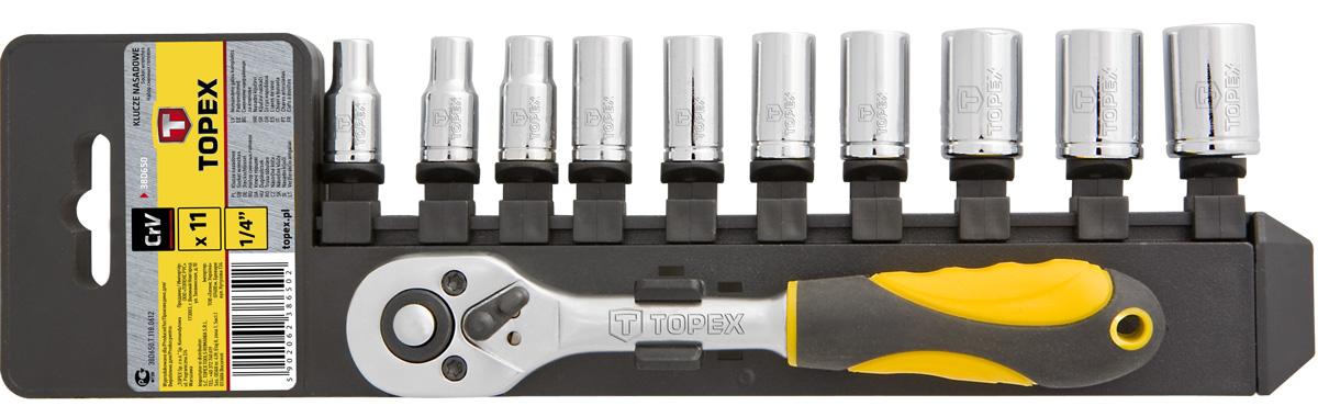 Набор головок Topex 38d650  набор сменных головок и насадок topex 38d669
