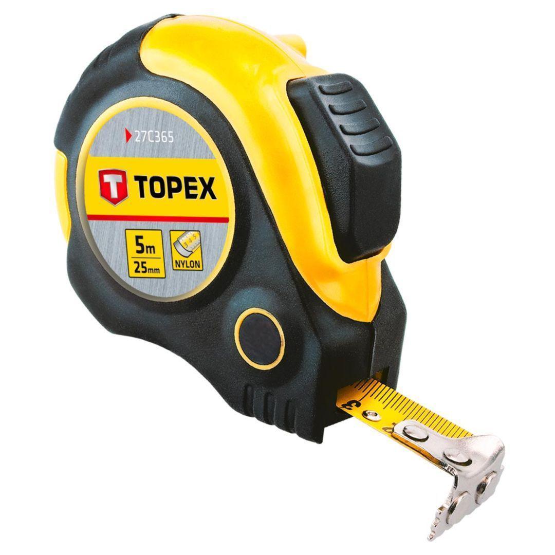 Рулетка Topex 27c365  стальная рулетка topex 27c387