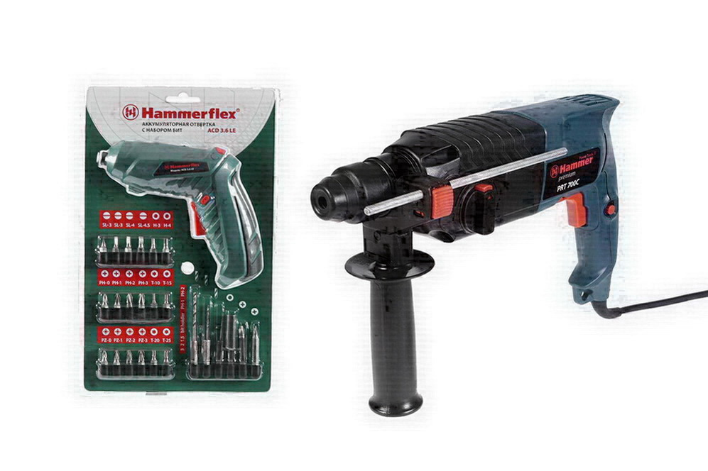 Набор: Перфоратор Hammer Prt700c premium