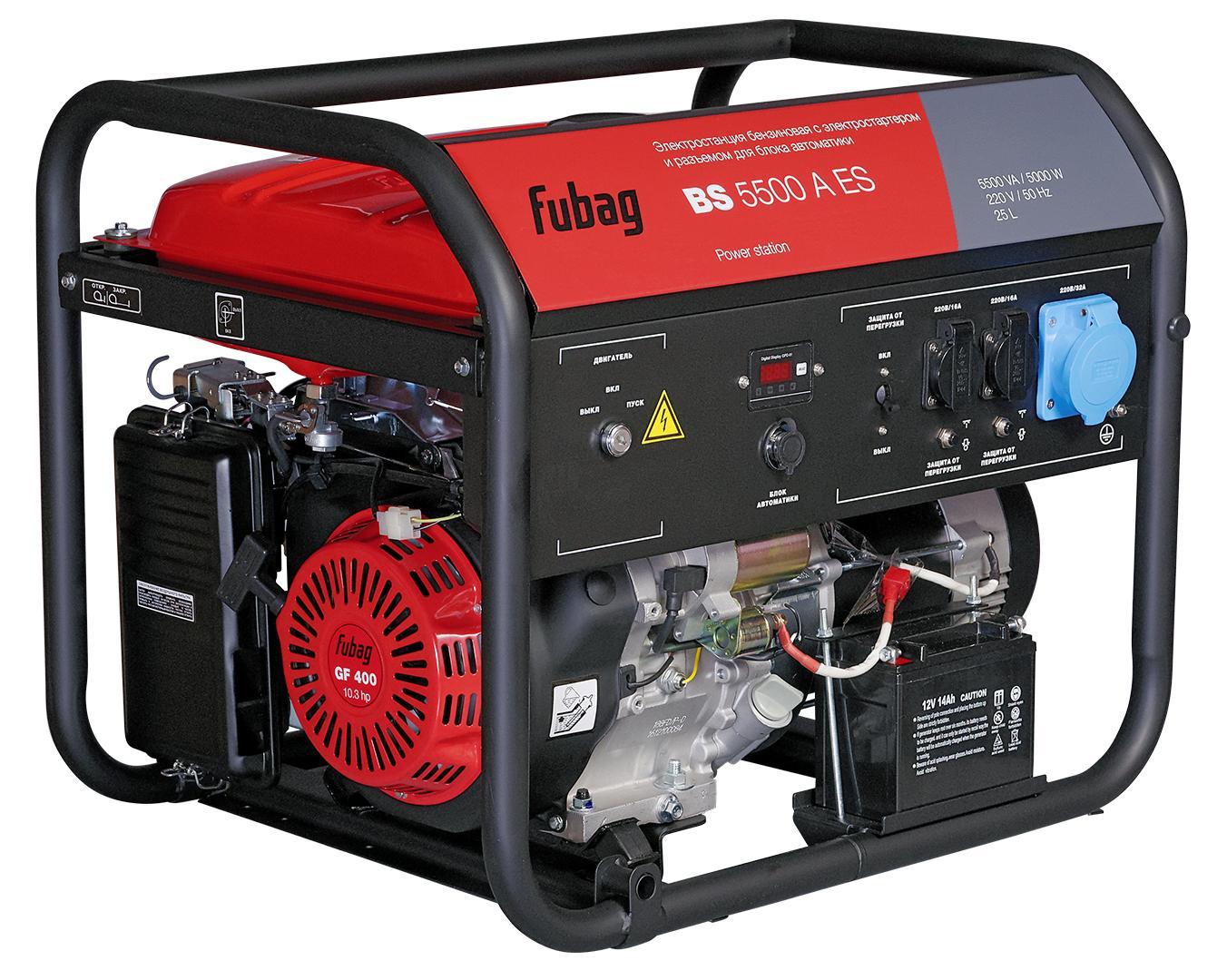 Бензиновый генератор Fubag Bs 5500 a es генератор fubag bs 5500 a es
