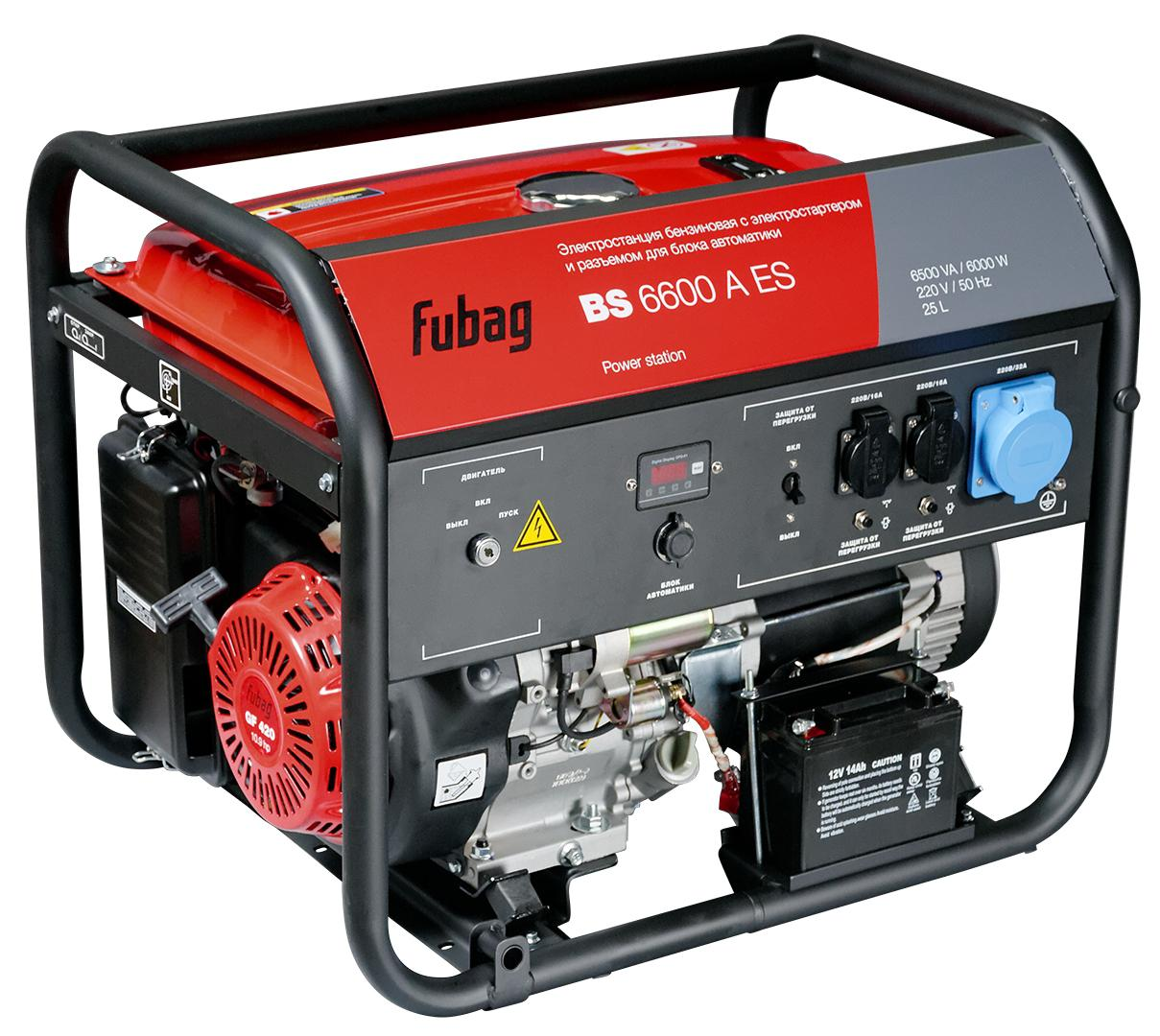 Бензиновый генератор Fubag Bs 6600 a es генератор fubag bs 5500 a es