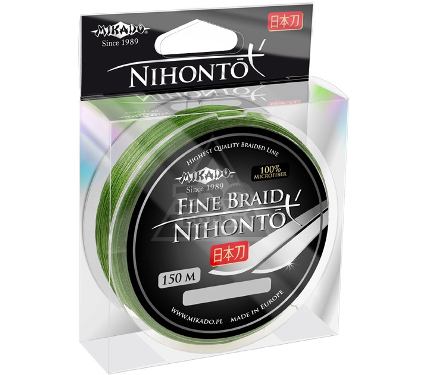 Шнур MIKADO NIHONTO FINE BRAID 0.08 green 150м