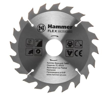Диск пильный твердосплавный HAMMER 160х20/16мм 20 зуб.