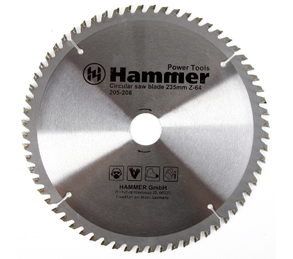 Диск пильный твердосплавный HAMMER 235х30мм 64 зуб.