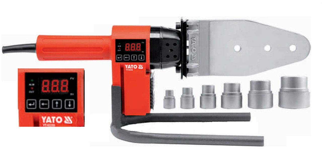 Аппарат для сварки пластиковых труб Yato Yt-82250 магнит yato 102х155х17мм д сварки