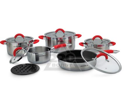 Набор посуды SUPRA SHS-N1157Kit red