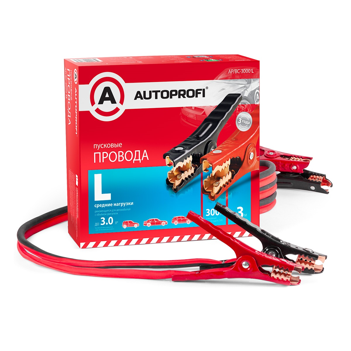 Провода прикуривания Autoprofi Ap/bc - 3000 l