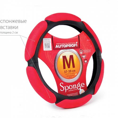 Оплетка Autoprofi Sp-5026 bk/rd (m)