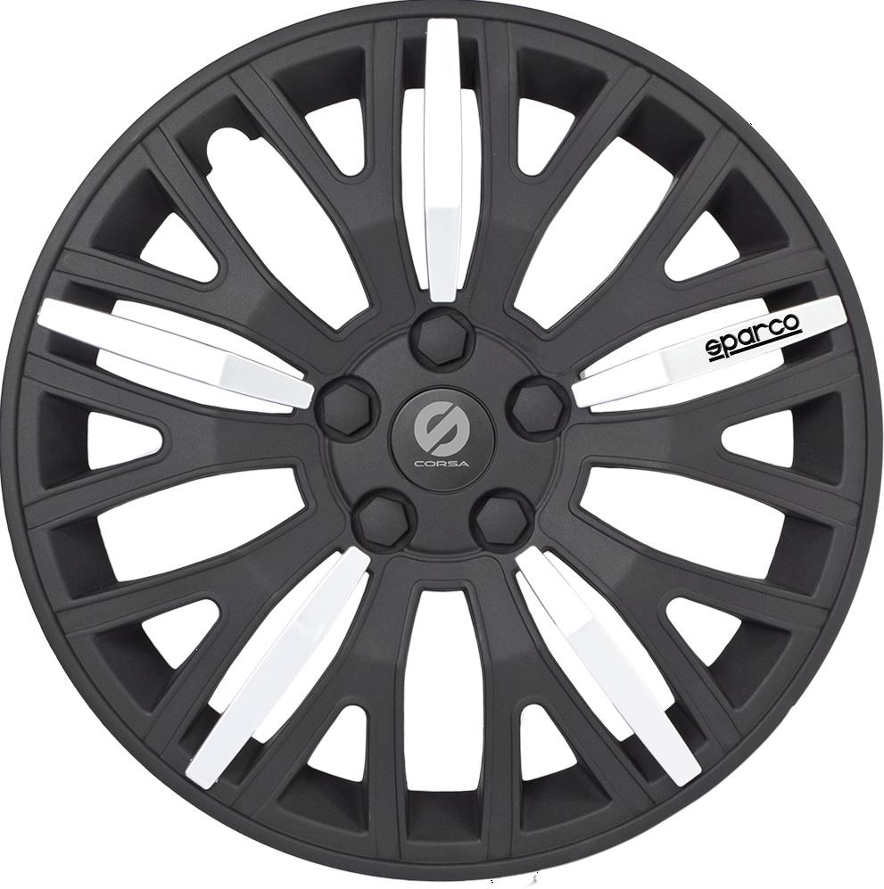 Колпаки на колёса Sparco Spc/wc-1350l bk/silver (13)