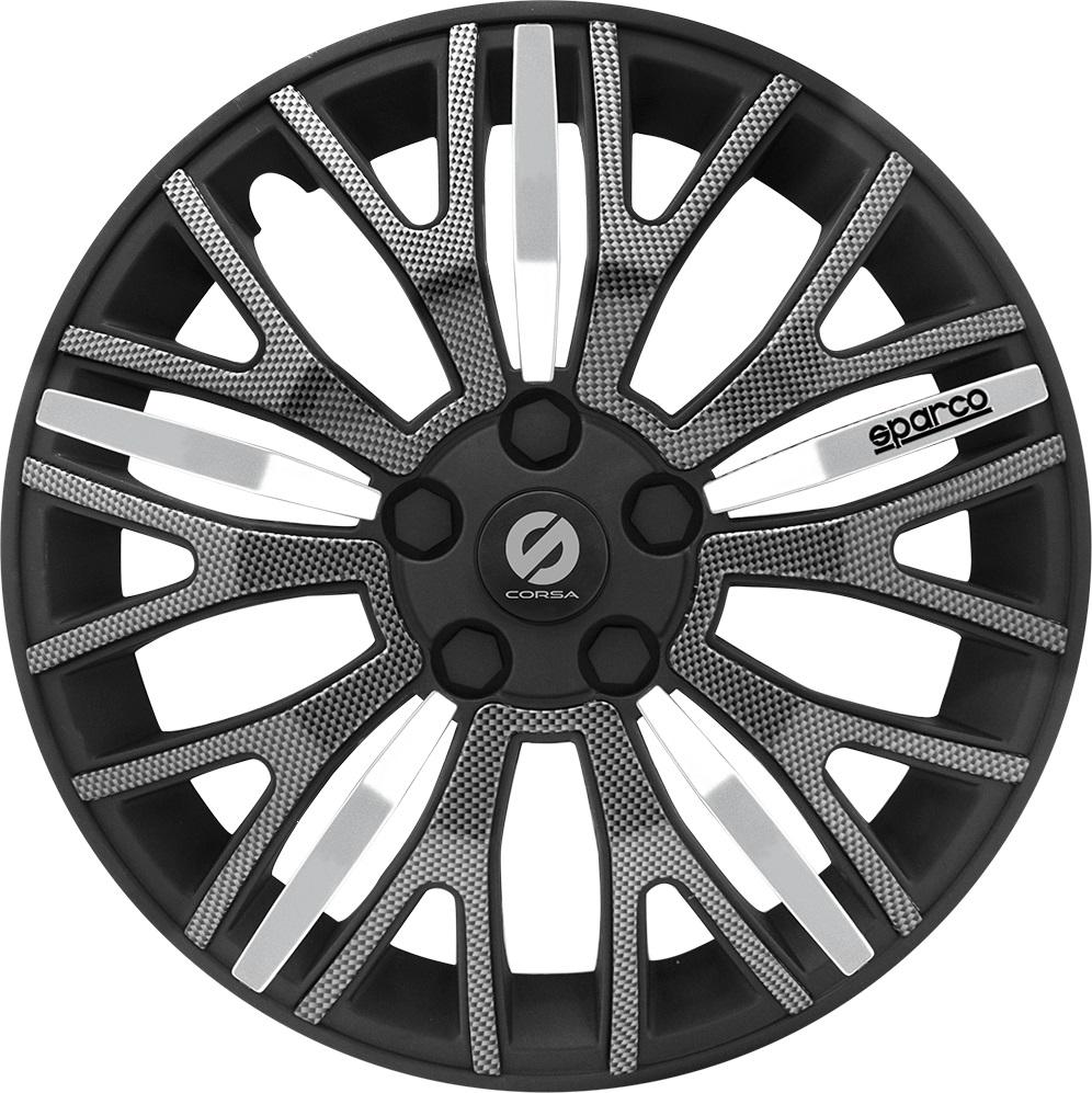 Колпаки на колёса Sparco Spc/wc-1350u bk/carbon (14) от 220 Вольт