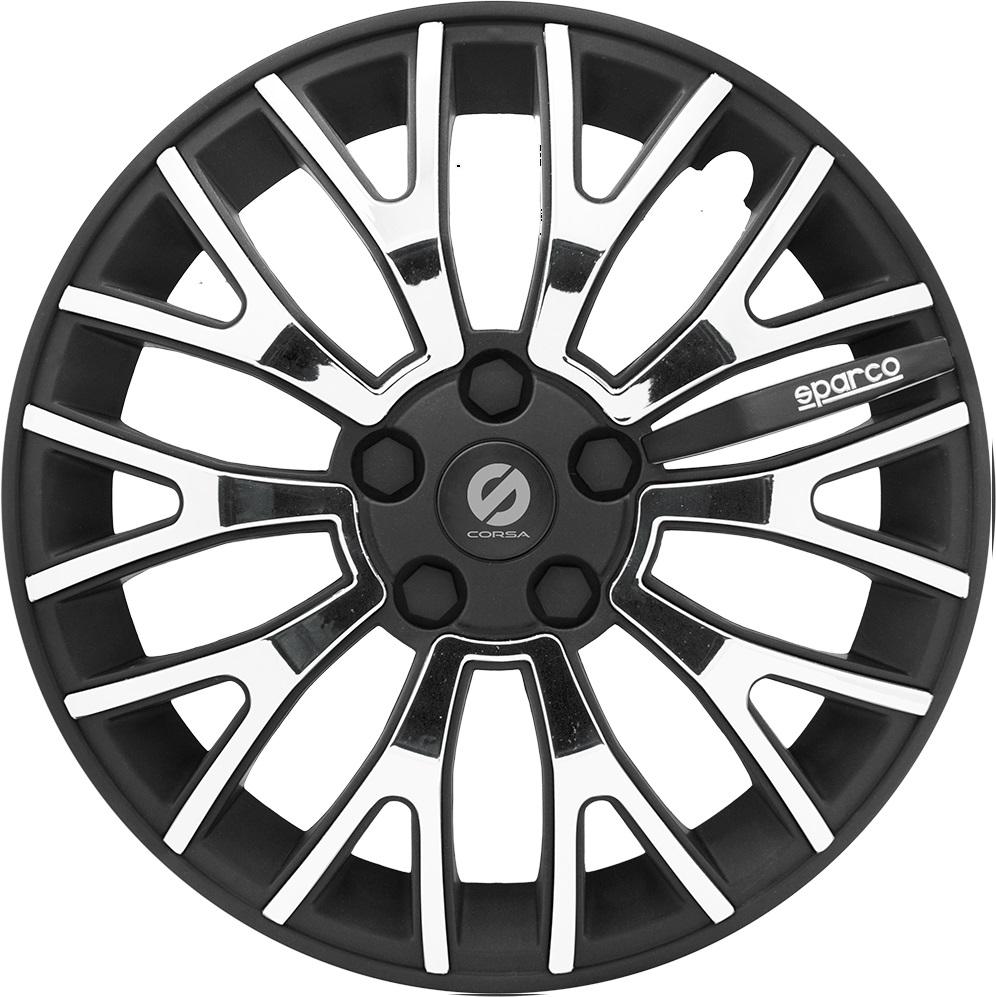Колпаки на колёса Sparco Spc/wc-1350u bk/chrome (13)