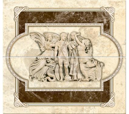 Декор-панно керамический INTERCERAMA П66031 Emperador коричневый 2шт