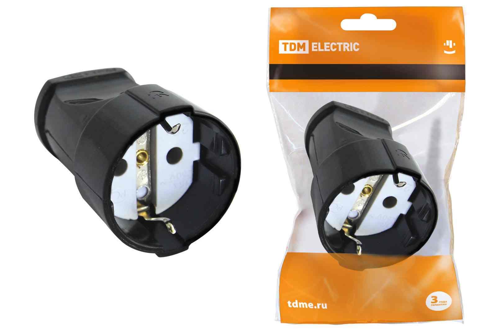 Розетка кабельная Tdm Sq1806-0129
