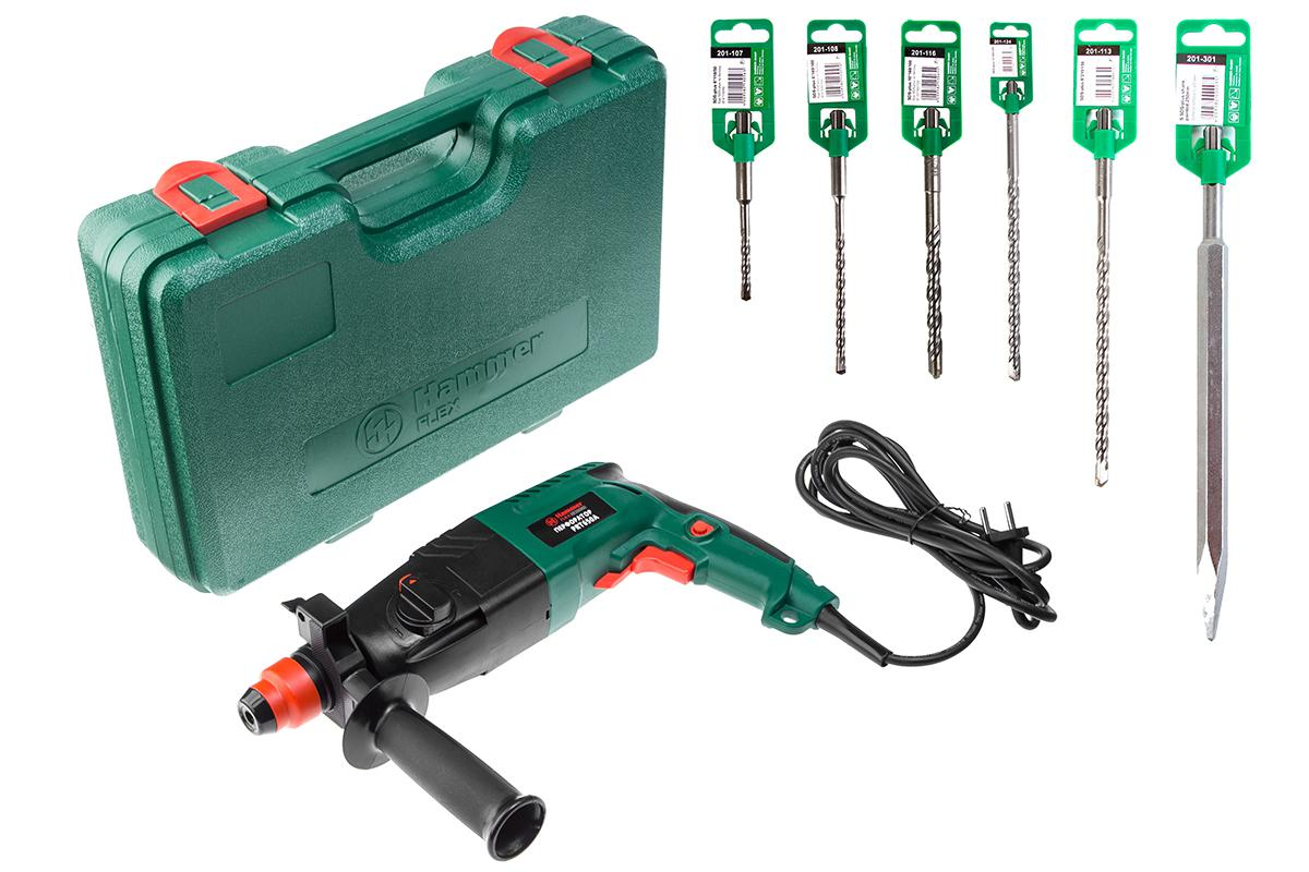 Набор Hammer перфоратор hammer flex prt650a + буры 5шт и пика