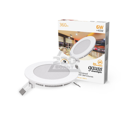 Светильник встраиваемый GAUSS 939111106