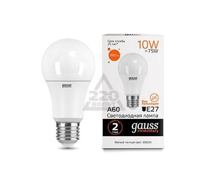 Купить Лампа светодиодная GAUSS Elementary 23210, лампы
