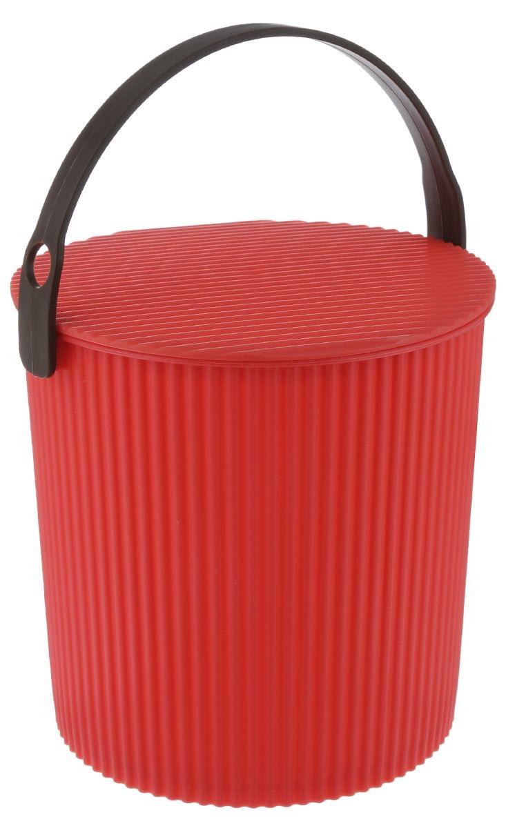 Ведро-стул ИЗУМРУД 102-красное