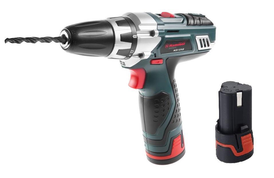 Дрель аккумуляторная Hammer Acd121le + 2ой аккумулятор