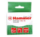 Скобы для степлера HAMMER Скобы 14мм, 10мм, 1,2мм (тип 53F)